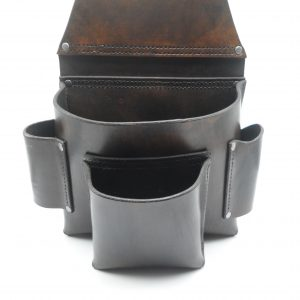 Tool Pouch with hammer/tin snips holders