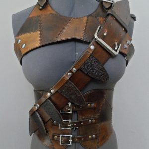 Cosplay Set Rugged Vest, Corset, and Bandolier